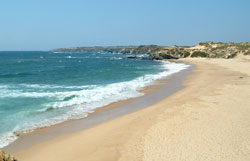 One of many attractive beaches found on the West coast of Portugal.
